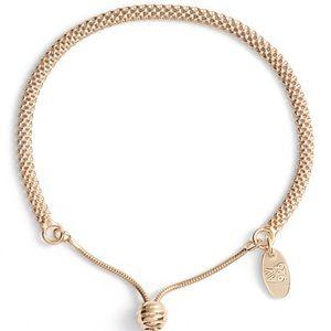 ARGENTO VIVO Mesh Slider Bracelet - Gold